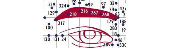 Riflessologia facciale indicata per disturbi agli occhi e for Dolore agli occhi